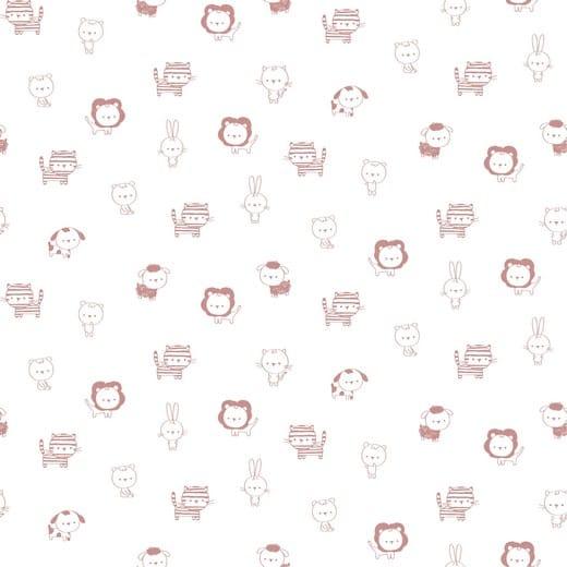 Sweet Animals - animais rosa fundo branco