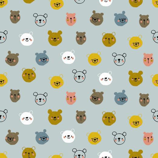 Cute Animals - Azul Claro
