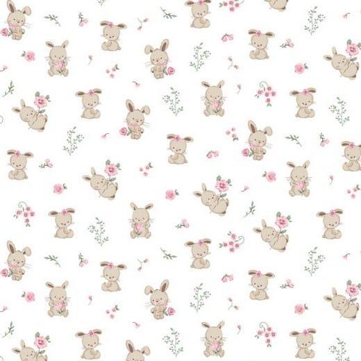 Algodão orgânico - Sweet Bunny white