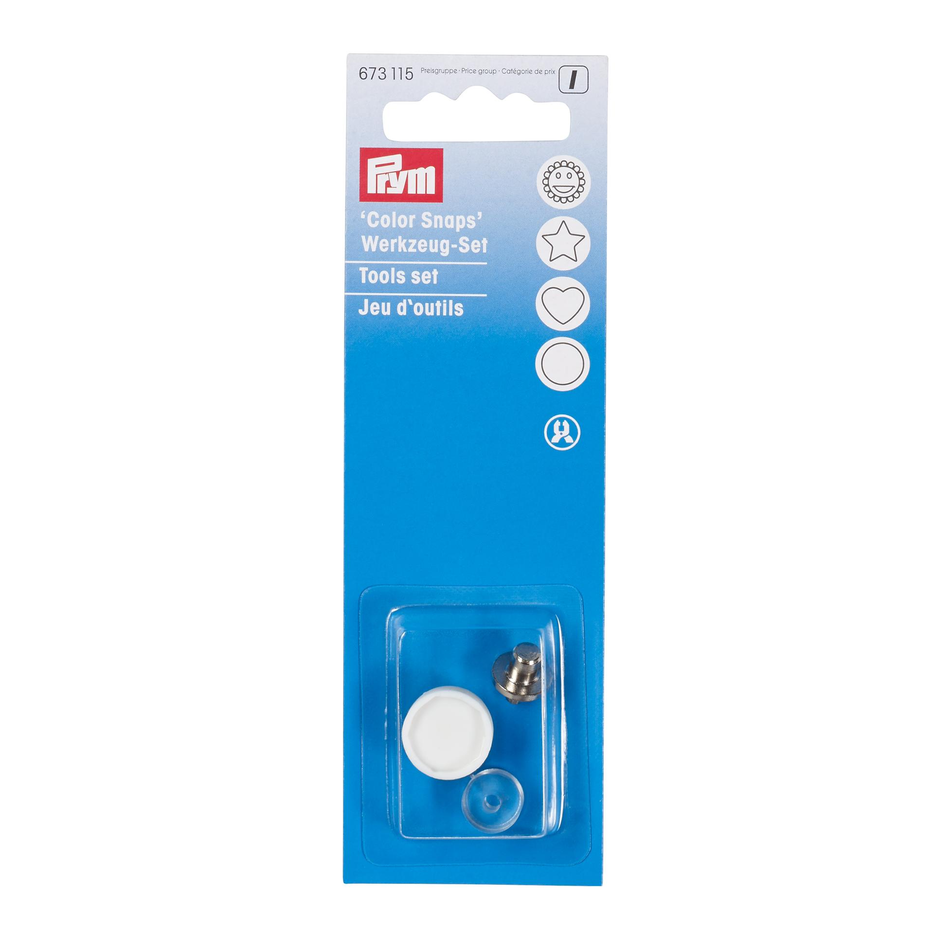 Adaptador para molas de plástico prym 12mm