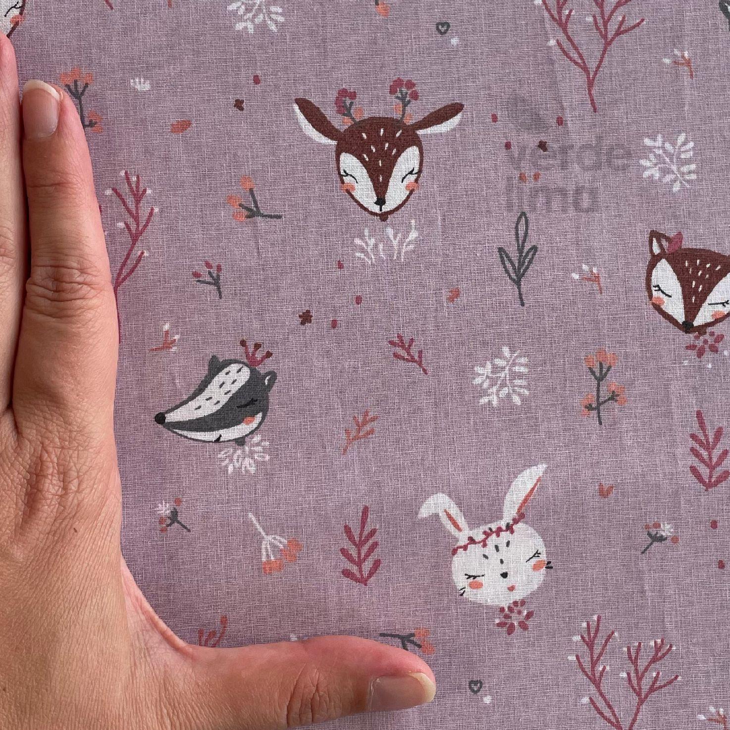 Princesas do bosque - Cabeças fundo lilás