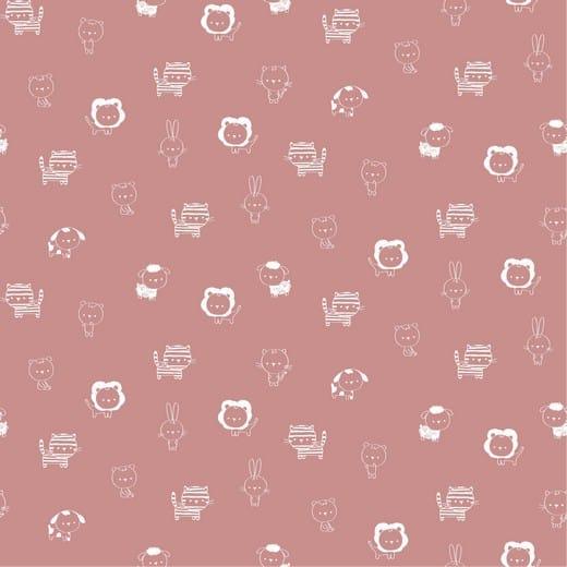 Sweet Animals - animais fundo rosa