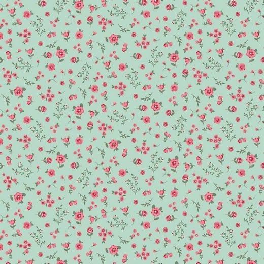 Algodão orgânico - Sweet Flowers mint
