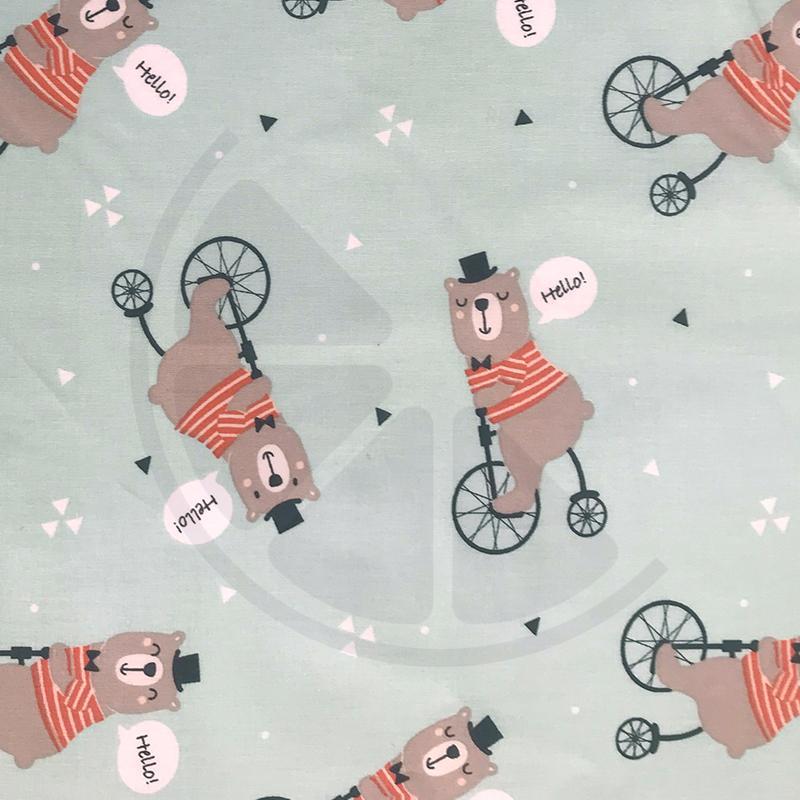 Ursos na bicicleta (plastificado)