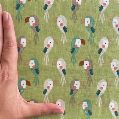 Rei da Selva - papagaios fundo verde