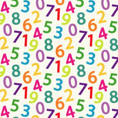 Signature Escolar - Números Coloridos