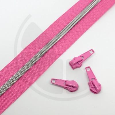 Fecho zipper metalizado