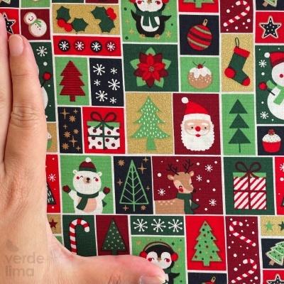 Personagens de Natal em quadrados