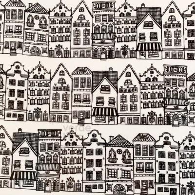 Casas preto e branco (plastificado)