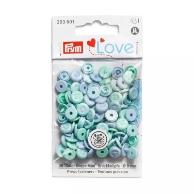 Molas de pressão de plástico mini botão - 36 uni. cores sortidas