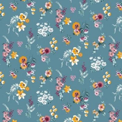 Flowery - fundo azul