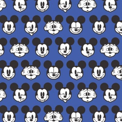 Its a mickey thing - cabeças fundo azul