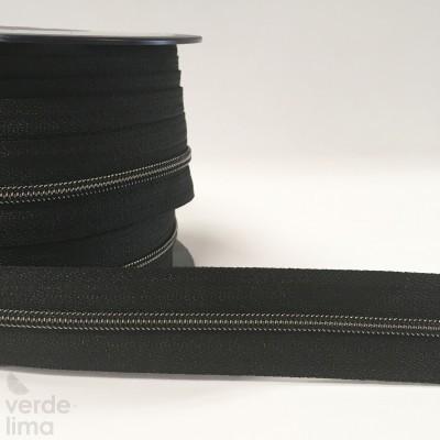 Fecho Zipper Metalizado malha 3