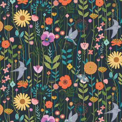 Aviary - Flowers and birds