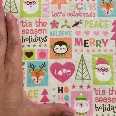 Candy Christmas - Quadrados fundo creme