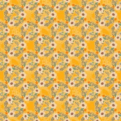 Contemporânea - Flores pequenas amarelo