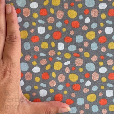 Dots - cinzento (com glitter)
