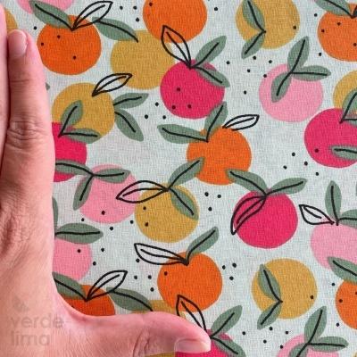 Algodão orgânico - Peachy Fruit verde menta