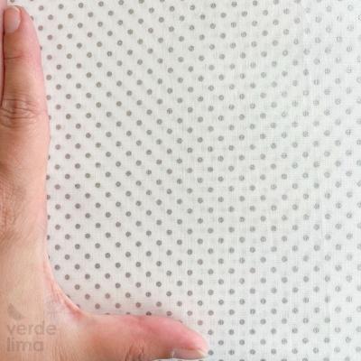 Bolinhas prateadas - fundo branco