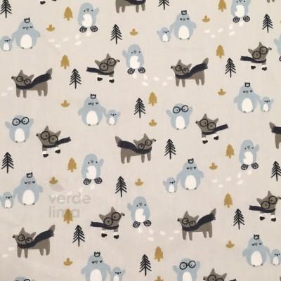 Winter fox - Fox and penguins