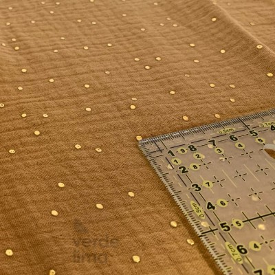 Musselina/Double Gauze gold dots