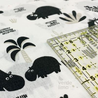 Black and white jungle - Hipopótamos e Zebras