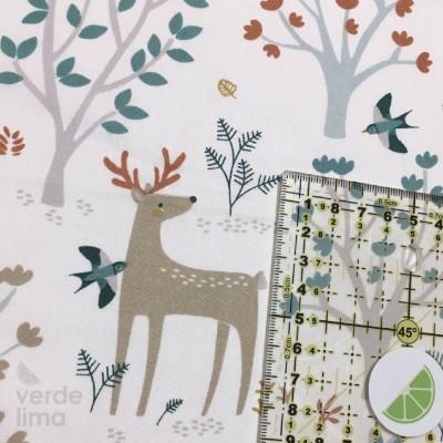 Winter deer - White