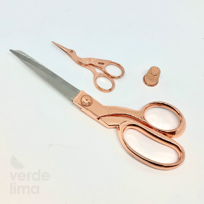 Kit Tesoura Deluxe Rose Gold