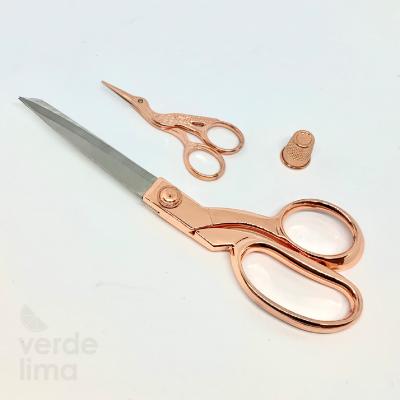 Kit Tesoura Deluxe Rose Gold