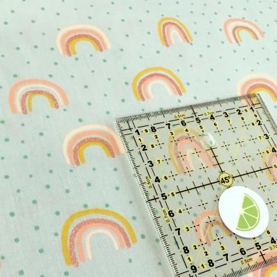 Rainbow - Fundo menta (com Glitter)