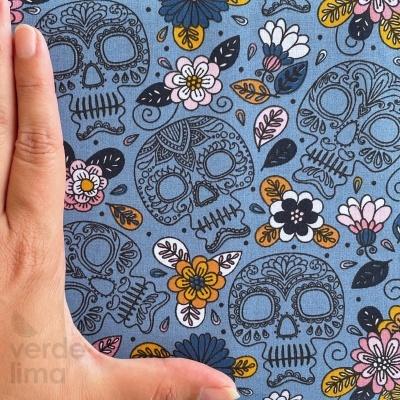 Colorfull Skull - Azul ganga