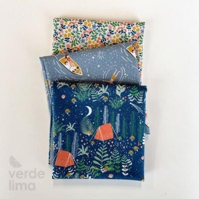 Pack de tecidos - Lago ao Luar