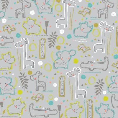 Sweet Zoo Animals - Main grey