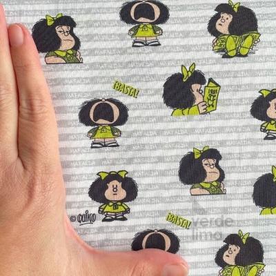 Mafalda - riscas cinzentas