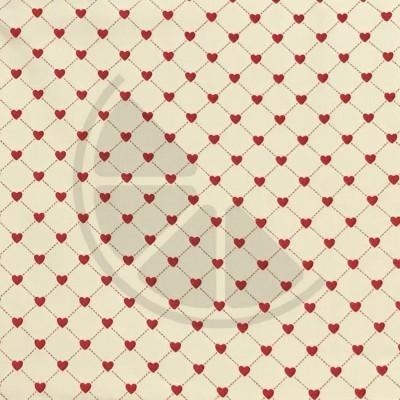 I love You - corações fundo creme