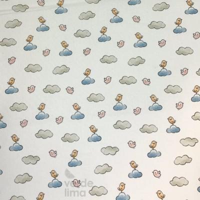 Ursinhos no avião - passarinhos na nuvem azul