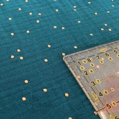 Musselina/Double Gauze gold dots