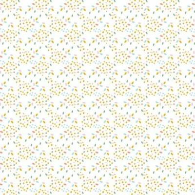 Algodão orgânico - Confetti white
