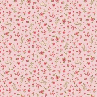 Algodão orgânico - Sweet Flowers pink