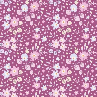 Retalho 115x110m - Plum Garden - Flower Confetti Plum