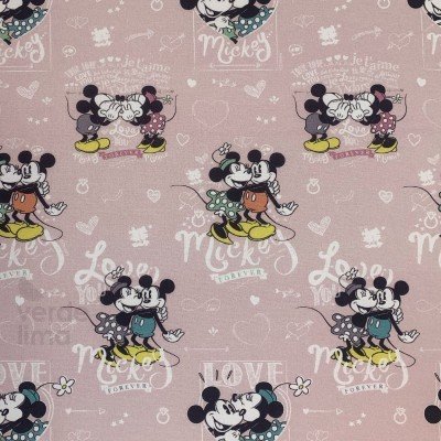 Mickey e Minnie vintage fundo rosa