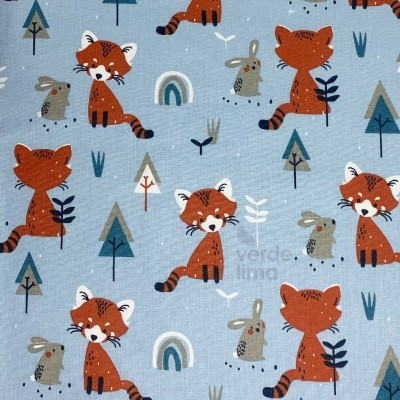 Red panda and friends blue - main