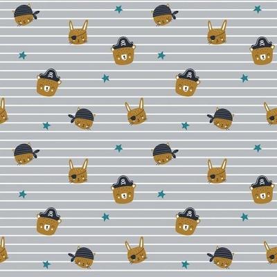 Pirate Animals Gang - Heads Cinzento