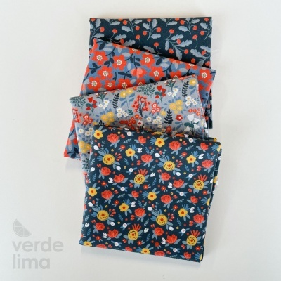 Pack de tecidos - Flores da primavera