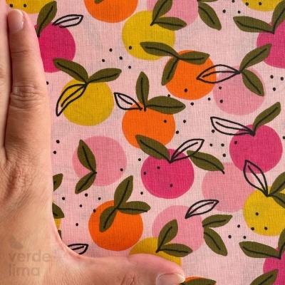 Algodão orgânico - Peachy Fruit rosa claro