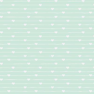 Teddy - Varal de corações azul