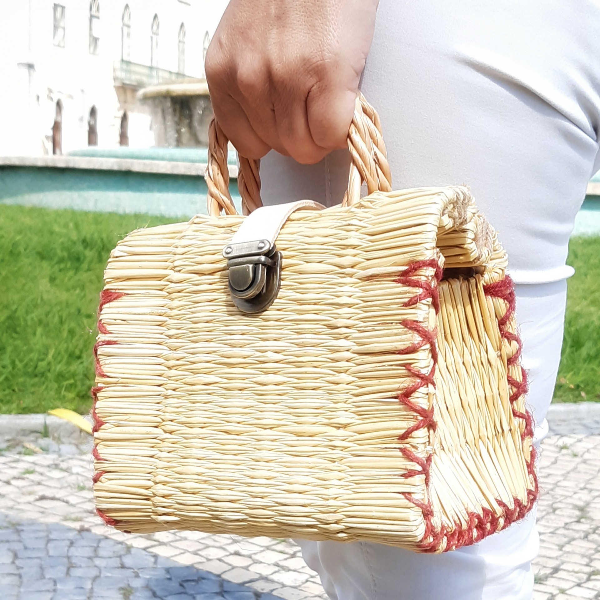 Natural reed basket XXS