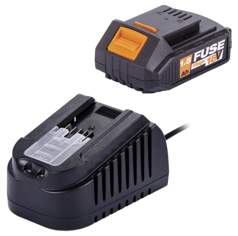 Pack Carregador 1,65 A + Bateria  1,5 Ah FUSE 18 V