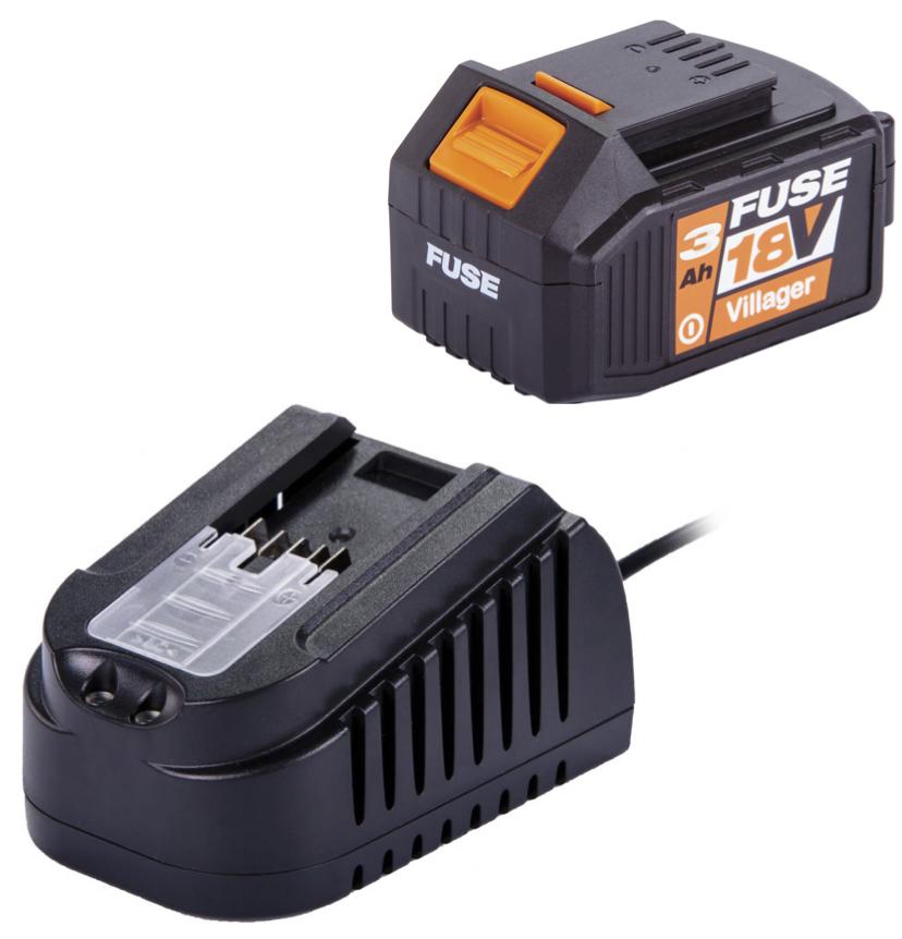 Pack Carregador 1,65 A + Bateria  3 Ah FUSE 18 V