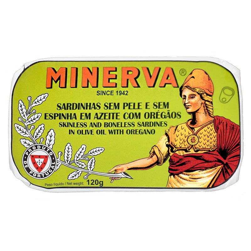 Minerva Sardinhas sem Pele e sem Espinhas em Azeite com Orégãos Conservas
